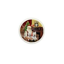 Santa (R) - Two Westies Mini Button