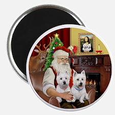 Santa (R) - Two Westies Magnet