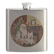 Santa (R) - Two Westies Flask