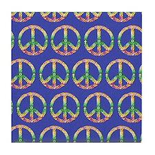 peace stadium blanket2 Tile Coaster