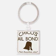 Chicos Bail Bonds Brown Square Keychain
