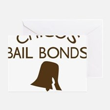 Chicos Bail Bonds Brown Greeting Card