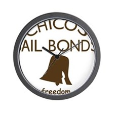 Chicos Bail Bonds Brown Wall Clock