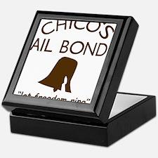 Chicos Bail Bonds Brown Keepsake Box