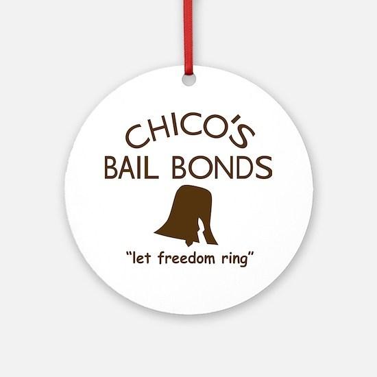 Chicos Bail Bonds Brown Round Ornament