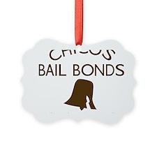 Chicos Bail Bonds Brown Ornament