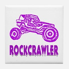 Rock Crawler_1011_purple Tile Coaster