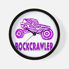 Rock Crawler_1011_purple Wall Clock