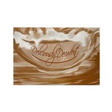Deliciously Decadent-coffee cup Rectangle Magnet