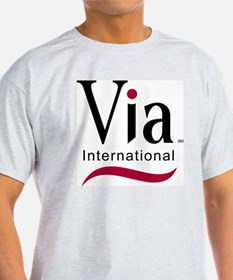 via-logo color T-Shirt