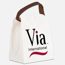 via-logo color Canvas Lunch Bag