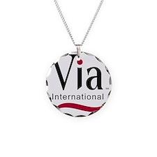via-logo color Necklace