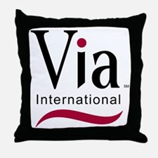 via-logo color Throw Pillow