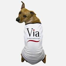 via-logo color Dog T-Shirt
