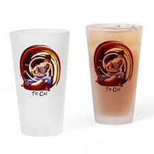 TAI CHI - T-SHIRT white shirt Drinking Glass