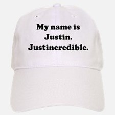 My name is Justin. Justincred Baseball Baseball Cap
