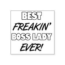 """Best Freakin' Boss Lady Eve Square Sticker 3"""" x 3"""""""