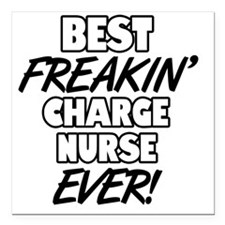 """Best Freakin' Charge Nur Square Car Magnet 3"""" x 3"""""""