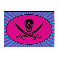 Funny Pirate Deluxe 5'x7'Area Rug