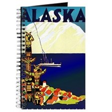 Vintage Travel Poster for Alaska Journal
