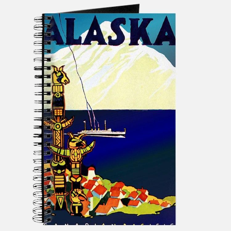 Vintage Travel Poster for Alaska Journal