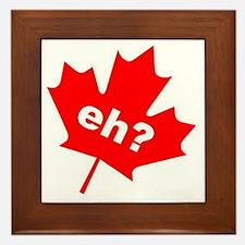 Eh? Canadian Slang Framed Tile