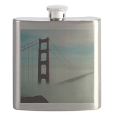 Golden Gate Bridge in Fog Flask