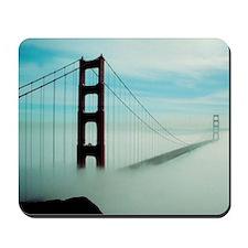 Golden Gate Bridge in Fog Mousepad
