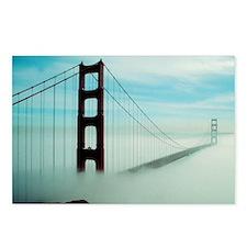 Golden Gate Bridge in Fog Postcards (Package of 8)