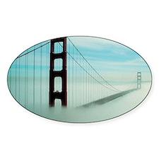 Golden Gate Bridge in Fog Decal