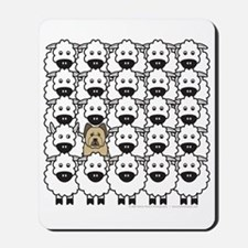 Briard in the Sheep Mousepad