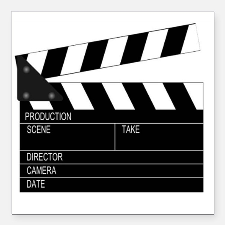 "Director' Clap Board Square Car Magnet 3"" x 3"""