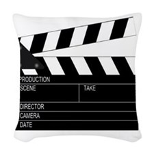 Director' Clap Board Woven Throw Pillow