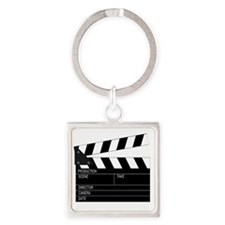 Director' Clap Board Square Keychain