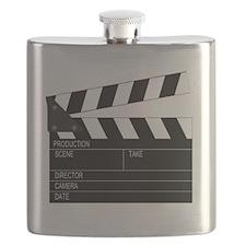 Director' Clap Board Flask