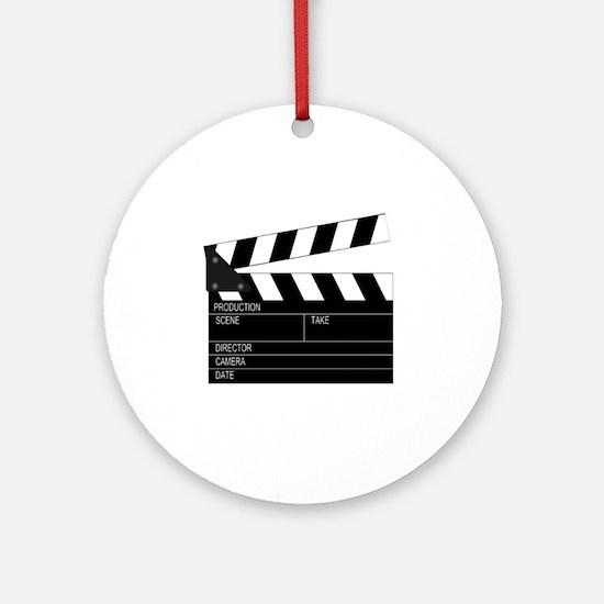 Director' Clap Board Round Ornament