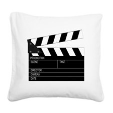 Director' Clap Board Square Canvas Pillow