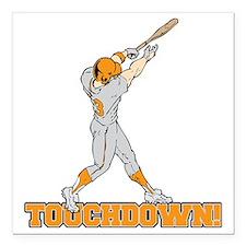 "touchdown! Square Car Magnet 3"" x 3"""
