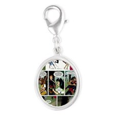 Karate Angels Comic book Silver Oval Charm