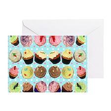 CupcakesPolkaDotMouseMat Greeting Card