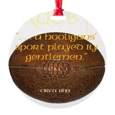 Rugby Hooligans Round Ornament