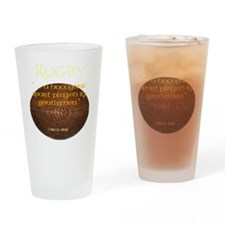 Rugby Hooligans Drinking Glass