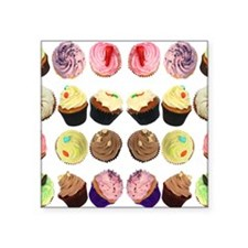 "CupcakesMouseMat Square Sticker 3"" x 3"""