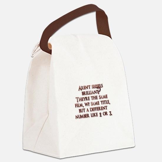 Arent sequels brilliant? Canvas Lunch Bag