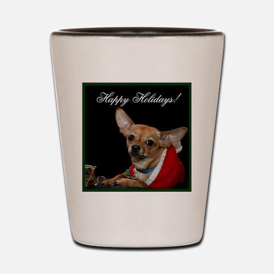 Christmas Chihuahua Shot Glass