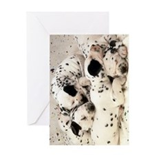 Dalmation journal Greeting Card