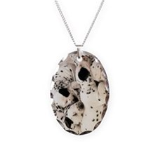 Dalmation journal Necklace Oval Charm