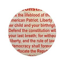 """2-THE CONSTITUTION 3.5"""" Button"""