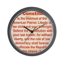 2-THE CONSTITUTION Wall Clock