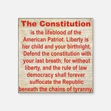 "2-THE CONSTITUTION Square Sticker 3"" x 3"""